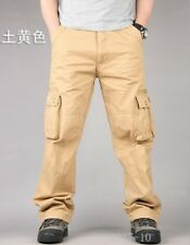 Mew Mens Casual Overalls Loose Straight Cargo Pants Military Outdoor Trousers SZ