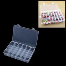 Compartimiento de almacenamiento Organizador de sección 24 Caja de Plástico Cuentas de uñas de arte del grano