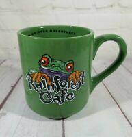 Rainforest Cafe CHA! CHA! 1999 Green Frog 16 oz Coffee Mug Excellent Vintage
