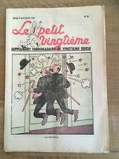 Tintin - Hergé - Le Petit Vingtieme du 15 septembre 1938 - N37 -  TBE