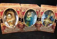 SANDS OF BETHLEHEM Glass Keepsake Ornament  Lot 3 new religious angel star new