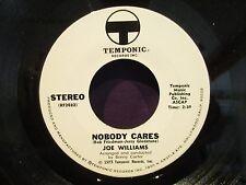 "Joe Williams 'Nobody Cares' DJ PROGRAM AIDS 7"" PSA"