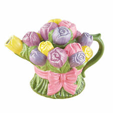 Easter Gifts for Mom Grandma Her Aunt Wife Tulip Teapot Table Spring Centerpiece