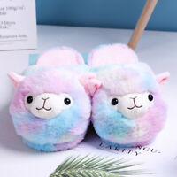 Alpaca Slippers Plush Sherpa Toy Llama Novelty PJ Shoes Soft Animal Pets Fur