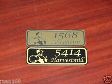 Engraved  Personalized mail box address number plate