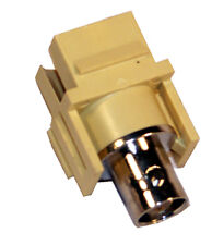 New (50) BNC Keystone Jacks - Ivory