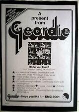 GEORDIE Hope You Like It   ORIGINAL 1973 EMI PROMOTIONAL CAMPAIGN ADVERT   AC/DC