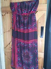 "Stunning Maxi Bustier Dress Hippie Boho Size 14. By Peacocks Chest 40"" Sun Dress"