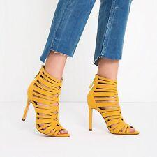 Zara Cage-Style Strappy Sandals - Size 37 (EU) (Ref. 6600/101) NARROW