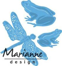 Marianne Creatables Die Cutting Emboss Stencil TINY'S FROGS & DRAGONFLY LR0461