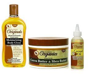 Ultimate Organic Moisturising Body Gloss Cocoa Butter Coconut Oil Body Cream