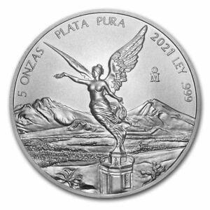 5 Unzen oz Silber Silver Libertad Siegesgöttin Mexico Mexiko 2021