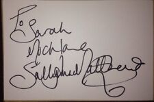 SALLY ANN MATTHEWS SIGNED 6X4 WHITE CARD TV AUTOGRAPH EMMERDALE CORRIE TO SARAH
