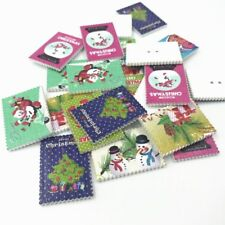 20pcs Wooden Christmas stamp Mixed Wooden Buttons Sewing Scrapbooking 34mm