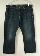 Mens American Eagle Classic Bootcut Jeans Dark wash Tinted Blue sz 36x30 AE
