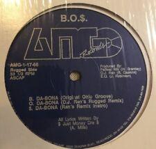 "B.O.$. Da Bona / Mic Terrorist 12"" 1991 Cleveland Ohio Rap DJ Ran Just Money Dre"