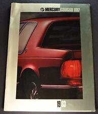 1993 Mercury Cougar XR7 Catalog Sales Brochure Excellent Original 93