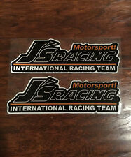 2x J's Racing 艺 Motorsports Team 3M Reflective Vinyl Sticker Decal Civic S2000