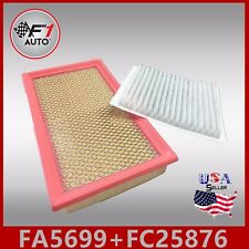 FA5699 FC25876 PREMIUM ENGINE & CABIN AIR FILTER for 2007-2014 FORD EDGE