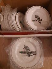 Disney Direct Mickey Mouse Santa Christmas Dishes Plates Salad Bowls China