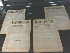 WATCHTOWER INFORMANTS 1940 4 ISSUES