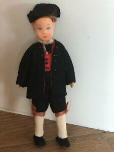 "Vintage Erna Meyer Colonial Boy 5"" Bendy Dollhouse Doll Miniature"