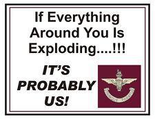 The Paras Parachute Regiment Exploding Regimental type fun Sticker