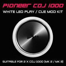 PIONEER CDJ 1000 MK2 / MK3 WHITE PLAY or CUE LED MOD KIT (FOR 2 x CDJS) DJM DDJ