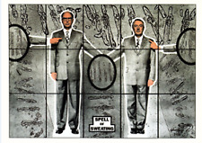 GILBERT & GEORGE POSTCARD 1999 - The Rudimentary Pictures. Spell of Sweating