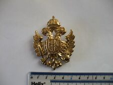 Military cap badge,  Russian ?  brass, quite well made.