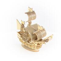 Ki-Gu-Mi Sailing Ship Wooden Puzzle Art 3D DIY Model Hobby Build Kit