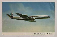 Uk Postcard Boac Comet 4 Jetliner airline issue British Overseas Airways vintage