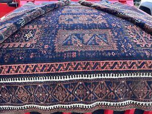 Auth: 19th C Antique Tribal Rug   Rare Timurid Baluchh   4x7 organic beauty  NR