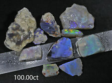 PARCEL OF LIGHTNING RIDGE BLACK OPAL PIECES WITH BEAUTIFUL COLOURS! 100.00ct