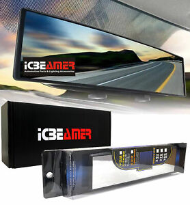 ICBEAMER 240mm Wide Convex Interior Clear Rear View Universal Fit Mirror A131