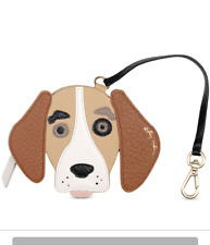 NWT Radley London Beagle Dog Bag Charm Coin Purse Leather Support ASPCA!!