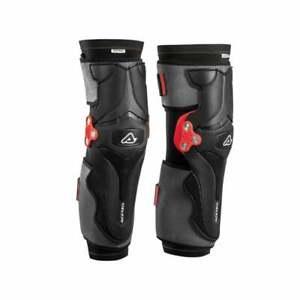 Acerbis X-Strong Hinged Motocross MX Enduro Bike Brace Knee Pads Guards - Black