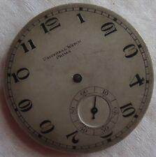 Universal Watch Prima pocket watch movement & dial 42 mm in diameter
