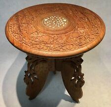 Vintage oriental tripod side table bijzettafeltje Beistelltisch table d'appoint