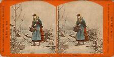 18 colorierte estéreo fotos hermosas genre alrededor de 1880, lot 5