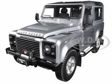 1984 LAND ROVER DEFENDER 90 INDUS SILVER 1/18 DIECAST CAR MODEL KYOSHO 08901