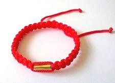 Authentic Thai Blessed Buddhist Wristband Fair Trade Wristwear Red Takrut