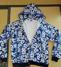 A BATHING APE Bape Hibiscus Blue  hoodie L 074
