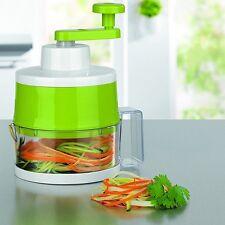 maxxcuisine Spiralschneider Pro mit 3 Schneideinsätzen Gemüsehobel Hobel limone