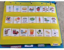 Visual Schedule Communication Book Picture Symbol Pec Binder Autism Behavior aid