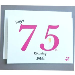 Personalised 75th Birthday Card Female 75 Years Old - Wife Mum Mother Nana Gran