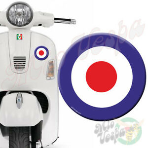 90mm RAF Blue Target Mod 3D Decal domed sticker for Vespa GTS ET PX LX 250 300
