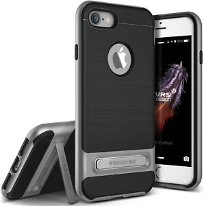 iPhone 7 Case, VRS Design [High Pro Shield Series] with kickstand Brushed Silver