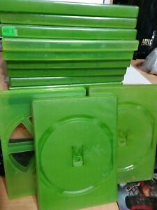 XBOX and xbox 360 Green Empty Replacement Game Cases Lot Of 12 used