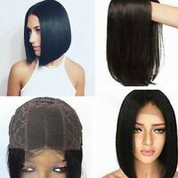 """150% Density Virgin Human Hair Wigs Unprocessed Glueless 4""""×4"""" Lace Front Wigs"""